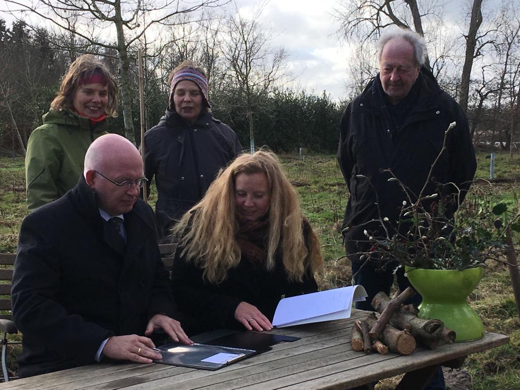 Gedeputeerde Staghouwer ondertekent Green Deal Voedselbossen