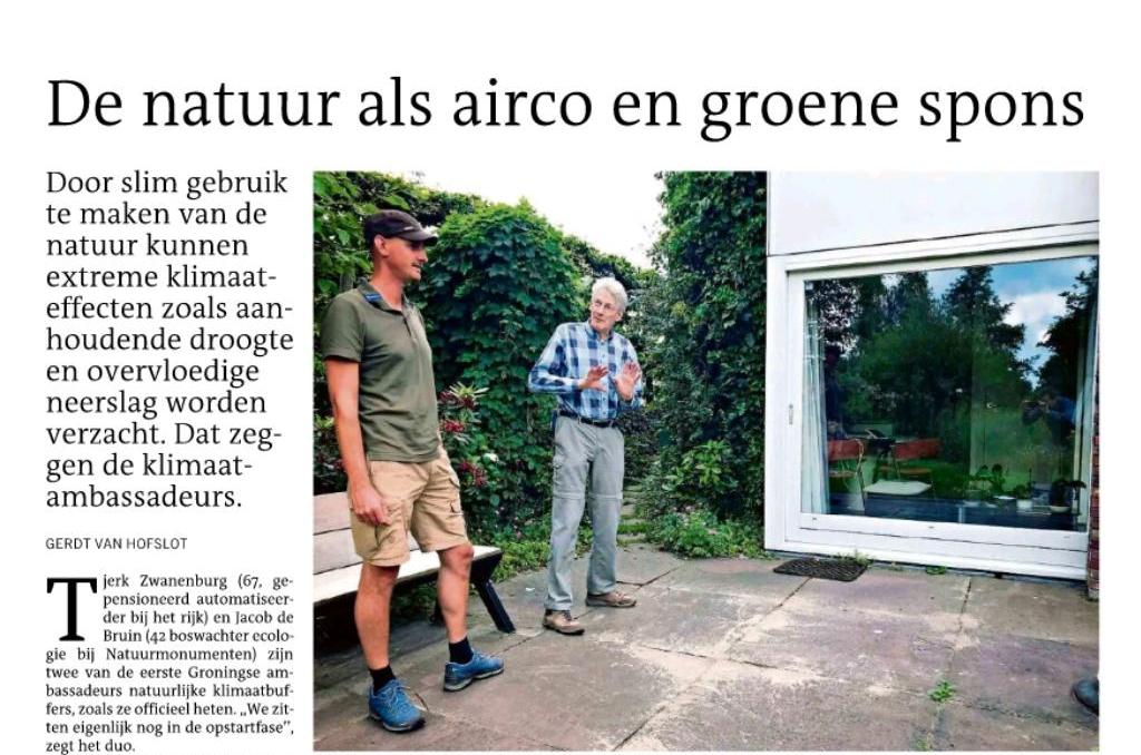 DvhN 23 juni: 'De natuur als airco en groene spons'